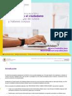 Manual Ciudadano - Aplicativo Tutela y Hábeas Corpus en Línea -