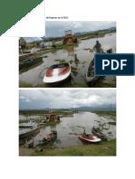 Daños causados a la laguna de fuquene en el 2012