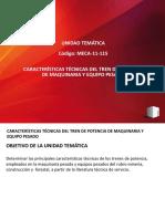 MECA-11-115 CARACTERÍSTICAS TÉCNICAS DEL TREN DE POTENCIA DE MAQUINARIA Y EQUIPO PESADO