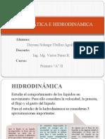Hidrostatica e Hidrodinamica.