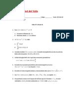 Taller N° 1 Cálculo III