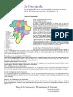 01082017.- Departamento de Guatemala División política Idioma Economía Costumbres y tradiciones Bailes folclóricos Lugares turísticos  Trajes típicos  Fauna.docx
