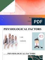 Factor influencing pain
