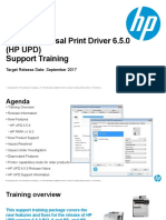 HP UPD 6.5.0 Intro Training