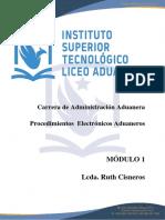 MODULO UNIDAD 1 PROCEDIMIENTOS ELECTRONICOS