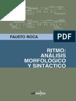 Ritmo. Análisis morfológico y sintáctico