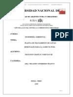 PLANTA DE TRATAMIENTO AGUA RESIDUALES - AGRICULTURA