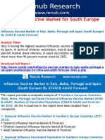 Influenza Vaccine Market Forecast in Italy, Malta, Portugal and Spain (South Europe) By (Child & Adult)
