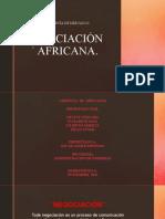 actividad # 3 Negociacion  Africana