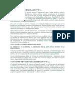 teorIZACION DEL ASPECTO JUSTICIA Y COMO ARTE DE LO EQUITATIVO