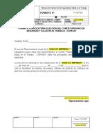 FT-SST-007 Formato Convocatoria  Elección del COPASST