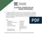 Parámetros de diseño de operación.