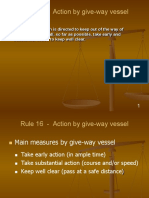 Rule 16  -  Action by give-way vessel