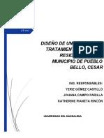 Memorias - Pretratamiento Municipio Pueblo bello-Cesar