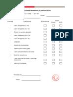 Check List de herramienta camiones DFAC