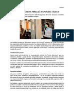 DESAFÍOS DEL RETAIL PERUANO DESPUÉS DEL COVID