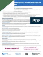 Afiche Res. SRT N° 29-20- RECOMENDACIONES
