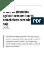 A vida de pequenos agricultores em terras amazônicas cercadas pela soja