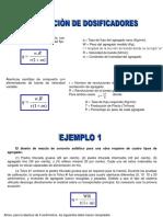Calibración de Dosificadores en mezclas asfalticas (ejercicios)
