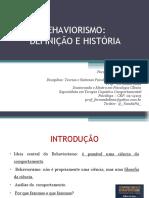 AULA 01 - BEHAVIOR. DEFINIÇÃO E HISTÓRIA