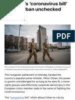 Democracy in Hungary 2020