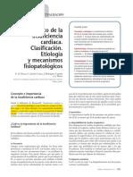 06.001 Concepto de la insuficiencia cardiaca. Clasificación. Etiología y mecanismos fisiopatológicos