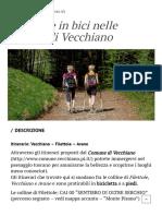 Itinerari a piedi e in bici nelle colline di Vecchiano