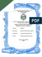 MONOGRAFIA DE SUJETOS DE DERECHO INTERNACIONAL PUBLICO