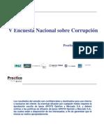 Quinta Encuesta Nacional sobre Corrupción 2008