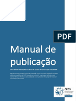 Manual de publicação – Livro de estilo das Edições do Centro de Estudos de Comunicação