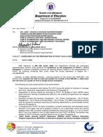 Division Memorandum No. 136,s.2020