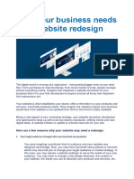 Why Your Business Needs a Website Redesign