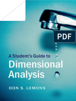 (Student's Guides) Lemons, D.S. - A Student's Guide to Dimensional Analysis-Cambridge University Press (2017).pdf