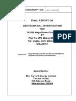 Final Report on Geotechnical Investigation for DGEN Mega Power Project at Dahej Sez, Bharuch, Gujarat (Vol-3 S+C) -F.pdf