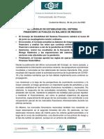 Comunicado de Prensa 059 CESF 06-30 VF.pdfel Consejo de Estabilidad Del Sistema Financiero Actualiza Su Balance de Riesgos 30 Junio 2020