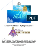 Lesson 11 - CHRIST IS MY RIGHTEOUSNESS