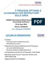 A Review of Process Options and Economics for Refractory Gold Ores -June 2015