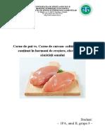 Carne de pui vs Carne de curcan