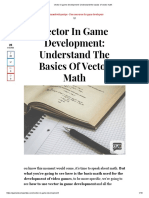 Vector in game development_ Understand the basics of vector math