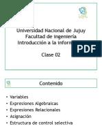 iiTE02 Expresiones algebraicas - Estructura Selectiva
