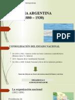 Unidad 1 - Historia Argentina (1880-1930)