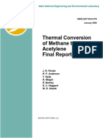 Thermal Conversion of Methane to Acetylene