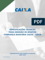 Manual Caixa -MO67119010  VERSÃO  ABRIL - 2020