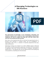 The Effect of Emerging Technologies on HR Practices