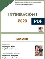 INTEGRACIÓN I - Presentacion del curso