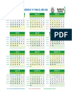 NEW Calendario 2020 Semanas
