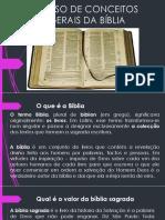 CURSO DE CONCEITOS GERAIS DA BÍBLIA