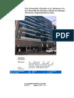 Tasacion Oficina y Estacionamiento en Chacarlla - Surco