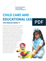 YMCA Childcare Flyer