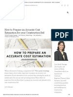 How to Prepare an Accurate Cost Estimation for your Construction Bid - Sihela Consultants